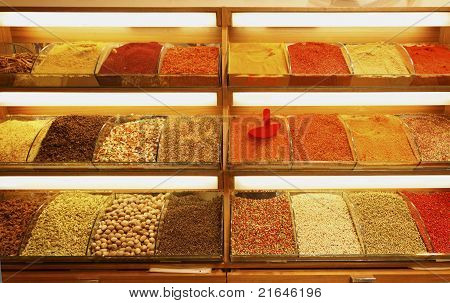 Pulses Spices Legumes Market Stall