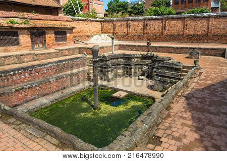 Historic Place Of Water Extraction In Bhaktapur Town.