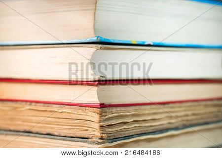 Ancient books. A bunch of old books.