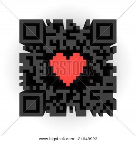 Herzen im QR-code