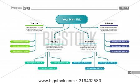 Tree chart four vector photo free trial bigstock tree chart with four elements flow diagram graph layout creative concept for ccuart Gallery