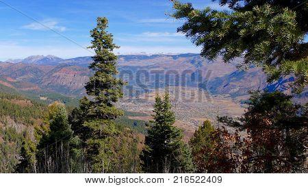 Vista Point at san Juan National Forest in Durango, CO