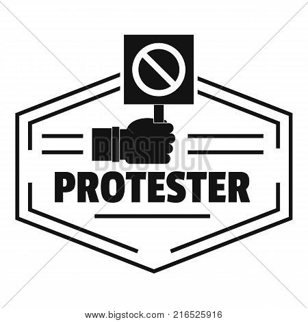 Protester logo. Simple illustration of protester vector logo for web