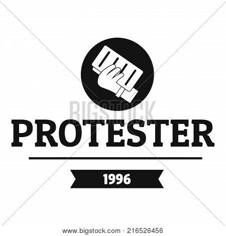 Protester leaflet logo. Simple illustration of protester leaflet vector logo for web