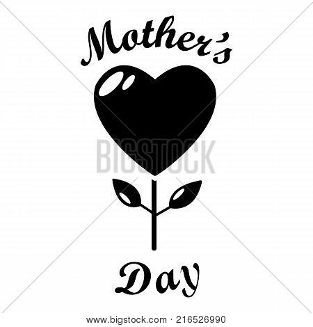 Mom day icon. Simple illustration of mom day vector icon for web