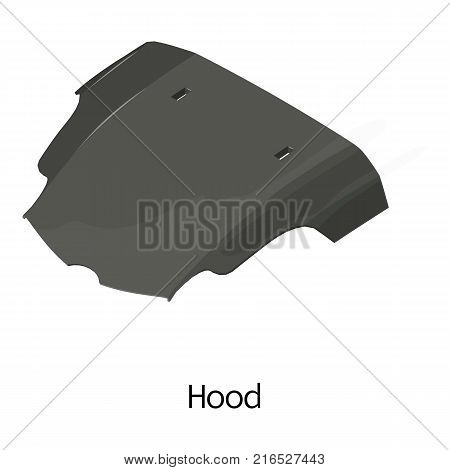 Cowl car icon. Isometric illustration of cowl car vector icon for web