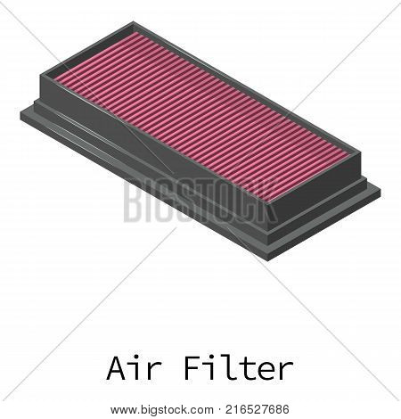 Air filter icon. Isometric illustration of air filter vector icon for web