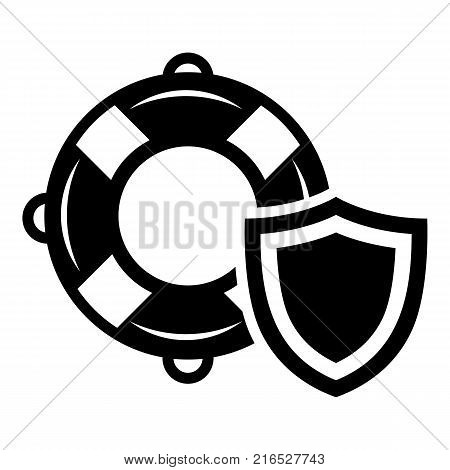 Lifeguard protection icon. Simple illustration of lifeguard protection vector icon for web