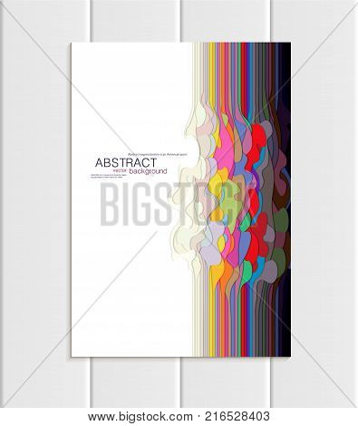 Stock vector brochure in abstract style. Design business templates with round, uneven colorful varicoloured shapes on white backgrounds for printed materials, element, web site, card, cover, wallpaper