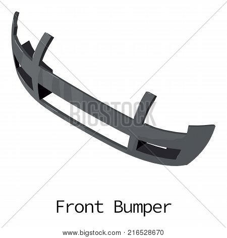 Front bumper icon. Isometric illustration of front bumper vector icon for web