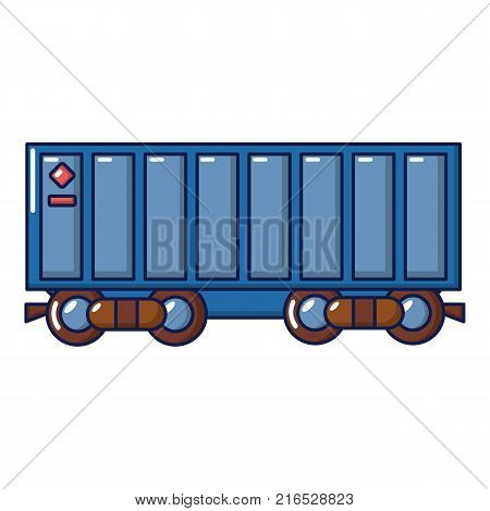 Freight train icon. Cartoon illustration of freight train vector icon for web
