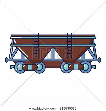 Wagon icon. Cartoon illustration of wagon vector icon for web