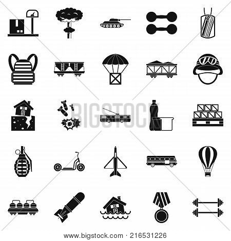 Burden icons set. Simple set of 25 burden vector icons for web isolated on white background