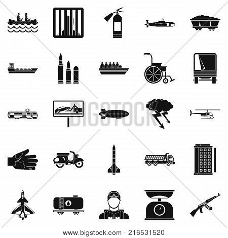 Drag icons set. Simple set of 25 drag vector icons for web isolated on white background