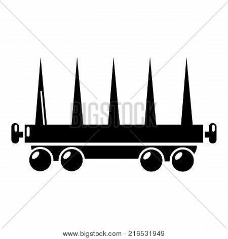 Delivery wagon icon. Simple illustration of delivery wagon vector icon for web