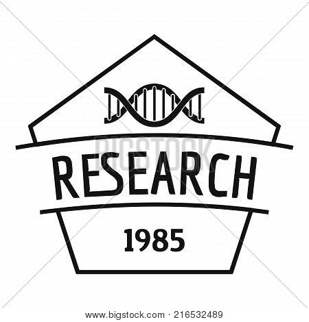 Gmo free research logo. Simple illustration of gmo free research vector logo for web