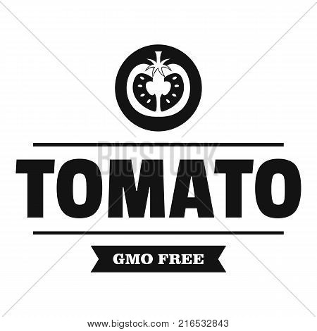 Gmo free tomato logo. Simple illustration of gmo free tomato vector logo for web
