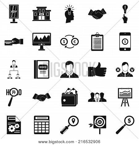 Compensation icons set. Simple set of 25 compensation vector icons for web isolated on white background