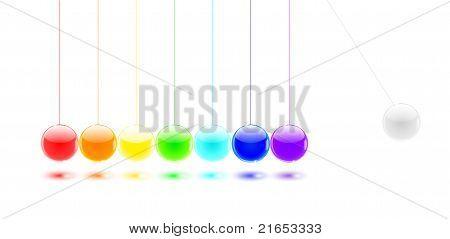 Newton's Cradle Color Balls