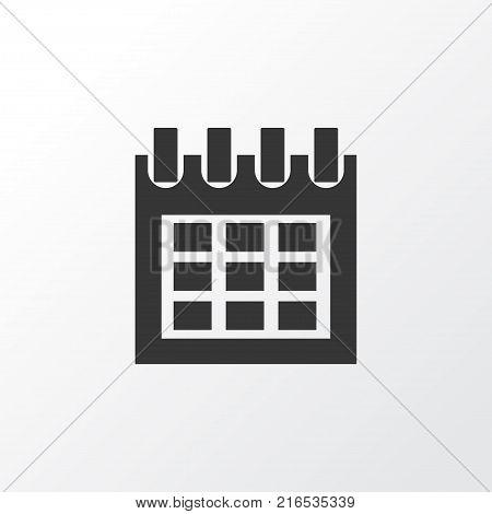 Calendar icon symbol. Premium quality isolated almanac element in trendy style.