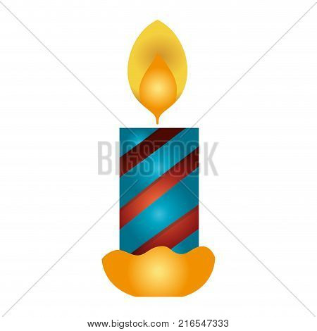 candle fire flame to christmas decoration vector illustration