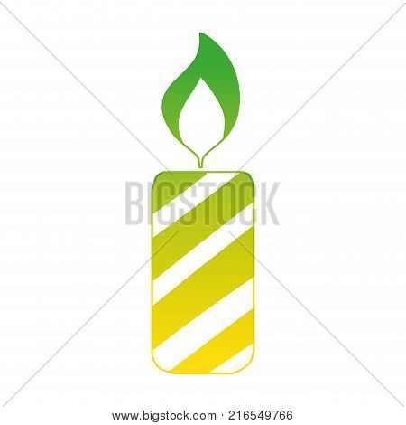 silhouette candle fire flame to christmas decoration vector illustration
