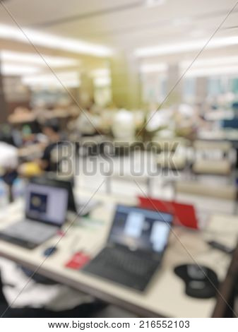 Blurred Image Of Worker Is Working At Modern Office Copy Documents On Machine For Copy, Document Pri