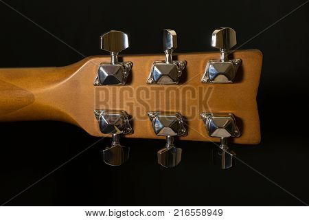 Headstock Of Acoustic Six-string Guitar