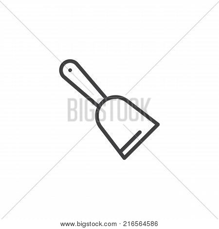 Scraper line icon, outline vector sign, linear style pictogram isolated on white. Scratcher symbol, logo illustration. Editable stroke