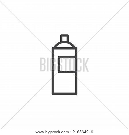 Graffiti spray can line icon, outline vector sign, linear style pictogram isolated on white. Symbol, logo illustration. Editable stroke