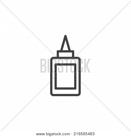 Glue bottle line icon, outline vector sign, linear style pictogram isolated on white. Symbol, logo illustration. Editable stroke