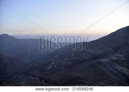 Road To Jais Mountains, Jebel Jais, Ras Al Khaimah, United Arab Emirates
