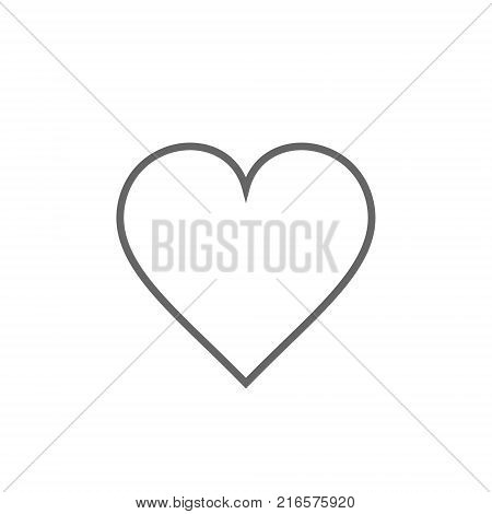 Heart icon outline vector line heart love symbol.