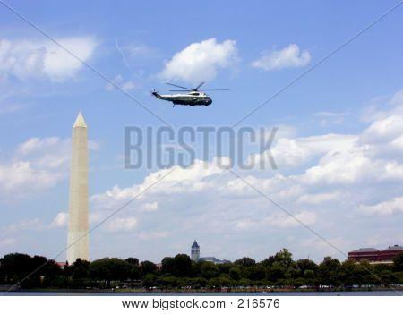 Flying Into Washington