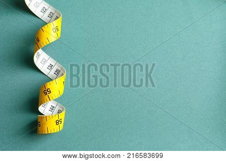 Measuring tape for tailoring on fabric