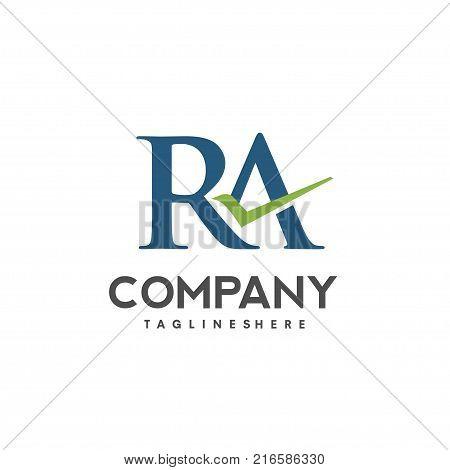 RA letter logo design vector illustration template, R letter logo vector, letter R and A logo vector, creative Letter RA letter logo