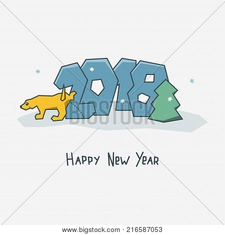 Happy New Year Card. Vector & Photo (Free Trial) | Bigstock