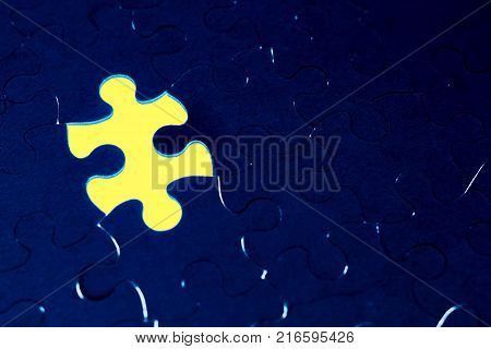 The missing piece of the puzzle.Completion of the absence of the concept of a puzzle for business