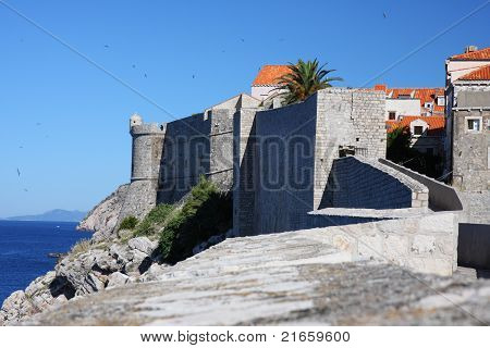 Old Fortress Wall Of Dubrovnik
