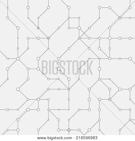 Geometric cybernetic simple minimalistic background. Vector illustration