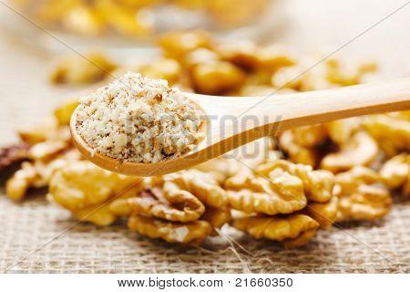 Walnut Greound, Nutmeat In Background