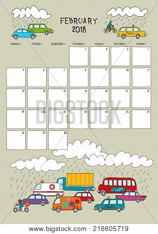 calendar, year, background, illustration, vector, day, template, week, design, month, date, page, business, time, white, desk, color, sketchy illustration, sketch, hand drawn, coat, diary, cute, kids, colorful, season, graphic, weekly, paper, holiday, car