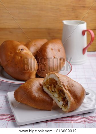 Traditional Russian cabbage and egg patties