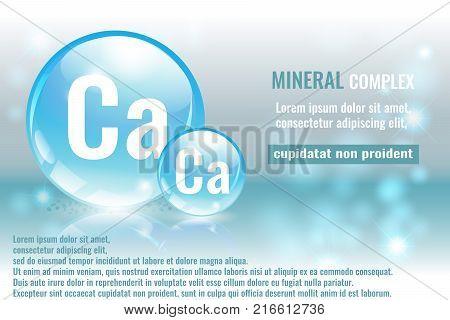 Mineral Ca Calcium Vector Photo Free Trial Bigstock