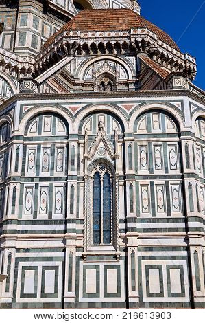 Facade Of The Old Building In The Florence, Italy