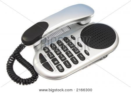 Silver And Black Telephone