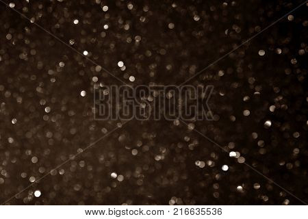 many bokeh circle light  for brown background