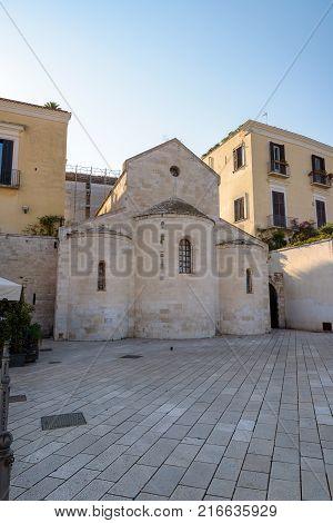 Vallisa Church building on the Ferrarese square in Bari Apulia Italy