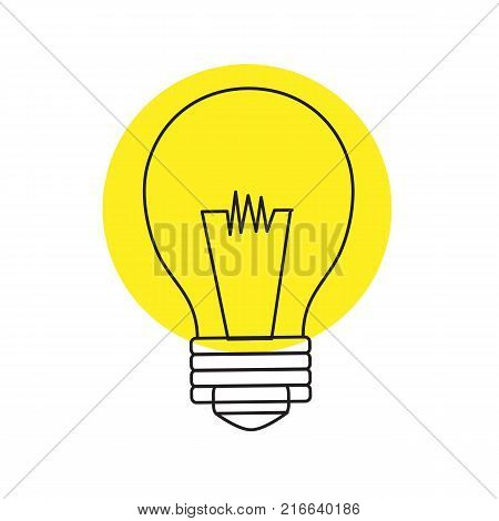 Light bulb icon isolated on background. Vector stock.
