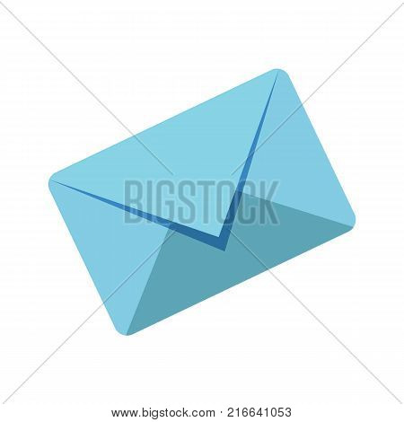 Message envelope icon isolated on white background. Envelope icon. Vector stock.